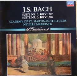 Bach: Suite nr. 2 & 3. Neville Marriner, Academy of St. Martin in the Fields. 1 LP. Argo