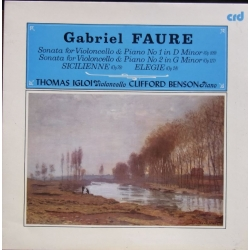 Faure: Cellosonate nr. 1 & 2. Thomas Igloi, Clifford Benson. 1 LP. CRD