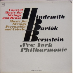 Hindemith: Concert music for strings and Brass. Leonard Bernstein, New York PO. 1 LP. CBS