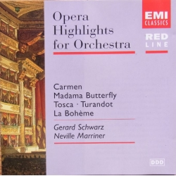 Opera highlights for Orchestra. Carmen, Tosca, La Boheme, Turandot. Neville Marriner. 1 CD EMI. Red Line
