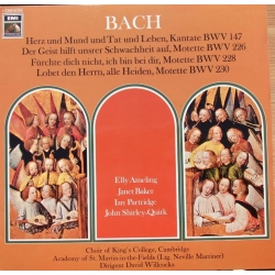 Bach: Cantata nr. 147. Herz und Mund. Ameling, Baker, Kings College Choir, David Willcocks. 1 LP EMI