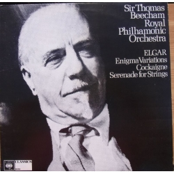 Elgar: Enigma Variations, Cockaigne, Serenade for Strings. Sir Thomas Beecham, Royal Philharmonic Orchestra. 1 LP. CBS. 61660