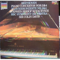Beethoven: Klaverkoncert nr. 2 & 4. Kovacevich, Colin Davis. BBC SO. 1 LP. Philips.
