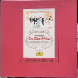 Franz Lehar: The Merry Widow. Karajan, Berlin PO. Harwood, Stratas, Hollweg, Kollo. 2 LP. DG