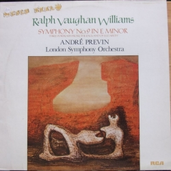 Vaughan-Williams: Symfoni nr. 9. Andre Previn, London Symphony Orchestra. 1 Vinyl LP. RCA.
