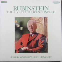 Beethoven: Klaverkoncert nr. 1-5. Artur Rubinstein, Erich Leinsdorf, Boston SO. 4 LP. RCA