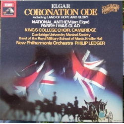 Elgar: Coronation Ode. (including Land of hope and glory) King's College Choir, New PO. Philip Ledger. 1 LP. EMI. ASD 3345