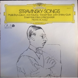 Igor Stravinsky: Sange. Julson, Murray, Tear, Quirk. Ensemble Intercontemporain, Pierre Boulez. 1 LP. DG. 2531377
