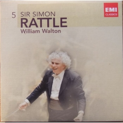 Walton: Symfoni nr. 1. + Belsharzzars Feast. Thomas Hampson, Simon Rattle. 1 CD. EMI