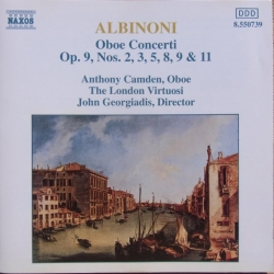 Albinoni: Obokoncert Opus 9. nr. 2, 3, 5, 8, 9, 11. Camden, The London Virtuosi, Georgiadis. 1 CD. Naxos