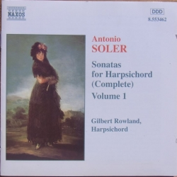 Antonio Soler: Sonater for cembalo. Gilbert Rowland. 1 CD. Naxos