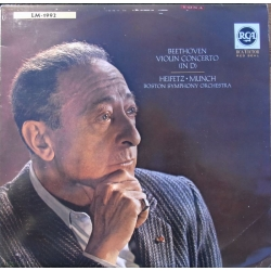 Beethoven: Violin Concerto. Jascha Heifetz, Charles Munch, Boston SO. 1 LP. RCA