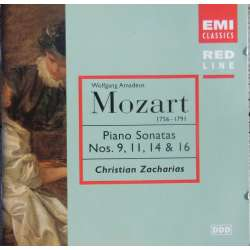 Mozart: Piano Sonata nos. 9, 11, 14, 16 Christian Zacharias. 1 CD. EMI. Red Line