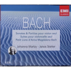 Bach: 6 Sonater for solo violin. + 6 suiter for solo cello. Martzy, Starker. 5 CD. EMI