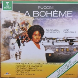 Puccini: La Boheme in highlights. Barbara Hendricks, Jose Carreras, James Conlon. 1 CD. Erato