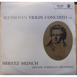 Beethoven: Violinkoncert, Opus 61. Jascha Heifetz, Charles Munch, Boston SO. 1 LP. RCA