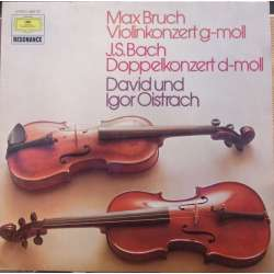 Bruch: Violin Concerto. & Bach Double Concerto. David and Igor Oistrakh. 1 LP. DG.