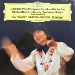 Bernstein: West side Story. & Russo: Three pieces for Blues band and Orchestra. Seiji Ozawa. 1 LP. DG