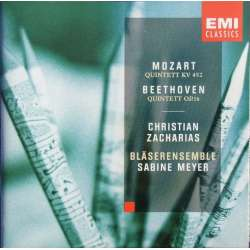 Mozart & Beethoven: Piano quintet. C. Zacharias + Sabine Meyer ensemble. 1 CD. EMI