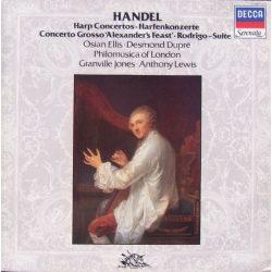 Handel: Koncert for harpe og lute. Osian Ellis, Desmond Dupre. Granville Jones. Philomusica of London. 1 LP. Decca