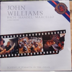 Bach, Handel, Marcello. Guitarkoncerter. John Williams, Academy, Silito 1 LP. CBS