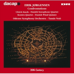 Erik Jørgensen: Confrontations. Tamas Vetö, Odense SO. 1 CD. Dacapo.