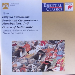 Elgar: Enigma Variations - Pomp and Circumstance march no. 1-5. Daniel Barenboim, LPO. 1 CD. Sony