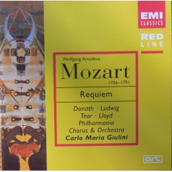 Mozart: Requiem. Giulini. Donath, Ludwig, Tear, Lloyd. 1 CD. EMI. Red line