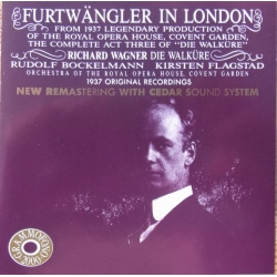 Furtwängler in London. Wagner: Die Walkure. (1937). 1 CD. Cedar