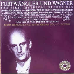 Furtwängler und Wagner. The First mythical recordings. 1 CD. Cedar