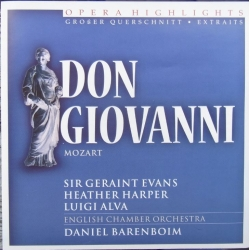 Mozart: Don Giovanni in highlights. Evans, Harper, Alva. Barenboim. 1 CD. DCL