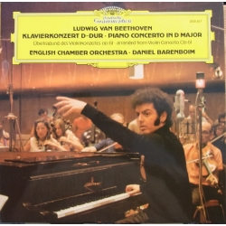 Beethoven: Piano Concerto in D-major. Op. 61. (arranged from violin Concerto) Daniel Barenboim, ECO. 1 LP. DG
