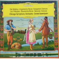 Smetana: Die Moldau & Brahms: Hungarian dances. Chicago SO. Daniel Barenboim. 1 LP. DG.