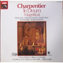 Charpentier: Te Deum & Magnificat. King's College choir. Philip Ledger. 1 LP. EMI