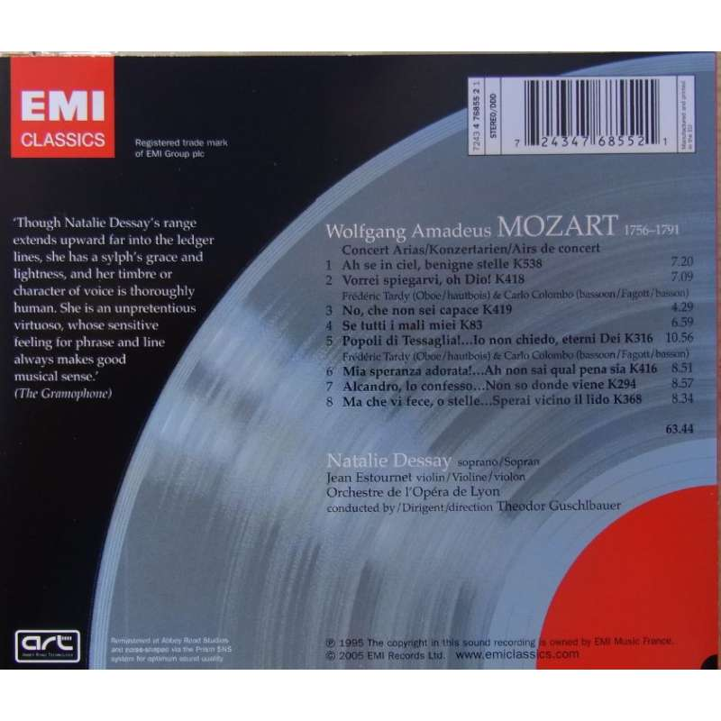arias concert dessay guschlbauer mozart natalie Find album reviews, stream songs, credits and award information for mozart:  concert arias - natalie dessay on allmusic - 1995 - mozart's concert arias are not .