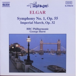 Elgar: Symfoni nr. 1. - Imperial March. George Hurst, BBC Philharmonic. 1 CD. Naxos
