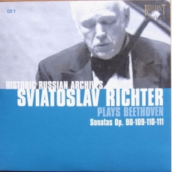 Sviatoslav Richter in Concert. Beethoven Sonatas Op. 90-109-110-111. 1 CD. Russian Archives