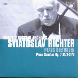 Beethoven Piano Sonatas Nos. 4, 17, 18. Sviatoslav Richter. 1 CD. Russian Archives