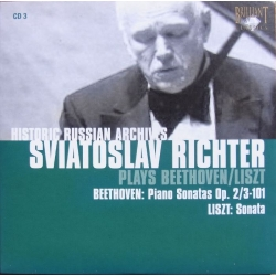Beethoven: Piano Sonatas Nos. 3 and 28. & Liszt. Sonata in B-minor. Sviatoslav Richter 1 CD. Russian Archives