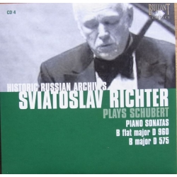 Sviatoslav Richter in Concert. Schubert Piano Sonatas D 960. - D 575. 1 CD. Russian Archives