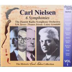 Nielsen: Symfoni nr. 1-6. DR. SO. Launy Grondahl, Erik Tuxen, Thomas Jensen. 3 CD. Danacord