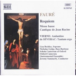 Faure: Requiem. Beckley, Gedge, Jeremy Summerly. 1 CD. Naxos