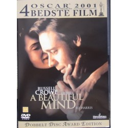 A Beautiful mind. (Et smukt sind). Russell Crowe, Ed Harris. 2 DVD. Thriller