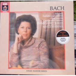 Bach: Arias from the Cantatas and Oratorios. Janet Baker, Neville Marriner. 1 LP. EMI. Nyt eksemplar