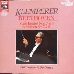 Beethoven: Symphonies nos. 7 & 8. Otto Klemperer, Philharmonia Orchestra. 1 LP. EMI
