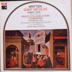 Britten: Saint Nicolas. Robert Tear, King's College Choir, David Wilcocks. 1 LP. EMI. ASD 2637