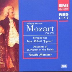 Mozart: Symphonies nos. 40 & 41. Neville Marriner, Academy of St. Martin in the Fields. 1 CD. EMI.