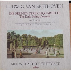 Beethoven: Early String Quartets. Op. 18 nr. 1-6. Melos Quartett Stuttgart. 4 LP. Intercord.