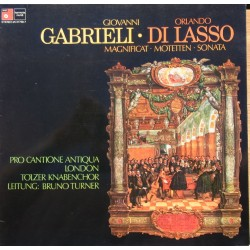 Gabrielli: Motets & Di Lasso: Magnificat. Pro Cantione Antiqua, London. 1 LP. HM