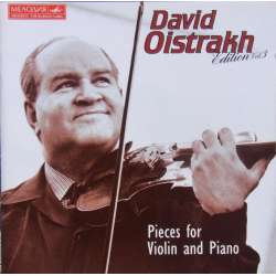David Oistrakh. Pieces for violin and piano. Schumann, Gluck, Brahms. 1 CD. Melodiya